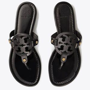 Tory Burch new Miller black sandals 7.5